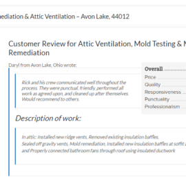 Mold Remediation & Attic Ventilation – Avon Lake, 44012