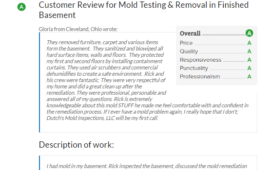 Cleveland Mold Inspector Review