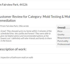 Mold Inspection Fairview Park, 44126