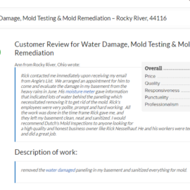 Water Damage, Mold Testing & Mold Remediation – Rocky River, 44116