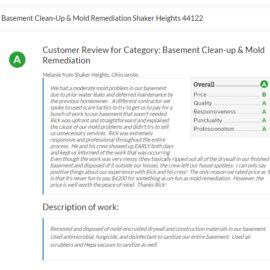 Basement Clean-Up & Mold Remediation Shaker Heights 44122