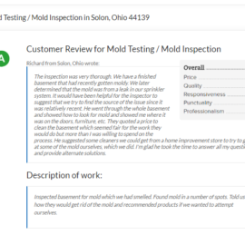 Mold Testing / Mold Inspection in Solon, Ohio 44139