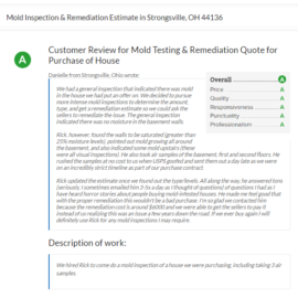 Mold Inspection & Remediation Estimate in Strongsville, OH 44136